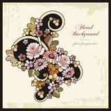 Floral Ornamental Background in Vintage Style Stock Photo