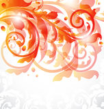 Floral ornamental card, autumn background Stock Photos