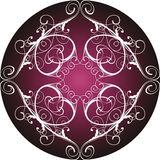 Floral ornamental circle Royalty Free Stock Images