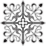 Floral ornamental cross Stock Photography