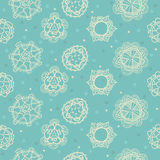 Floral, ornamental cute seamless pattern with hearts Royalty Free Stock Photography