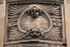 Floral ornamental decoration on the Art Nouveau building Stock Photography