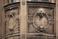 Floral ornamental decoration on the Art Nouveau building Stock Photo