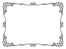 Floral ornamental decorative frame Stock Photos