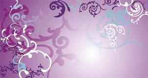 Floral ornamental design. Floral ornamental pattern on pink bg Royalty Free Stock Image