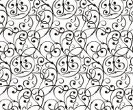 Floral ornamental design. Floral ornamental pattern on white bg Royalty Free Stock Photo