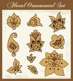Floral Ornamental Design Elements. A set of floral ornamental design elements Stock Images