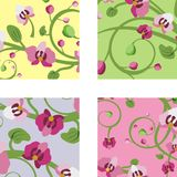 Floral ornamental designs Stock Photos