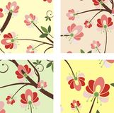 Floral ornamental designs Stock Photography
