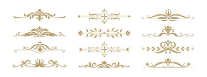Free Floral Ornamental Divider. Vintage Decorative Elements For Wedding Invitation And Greeting Cards. Vector Dividers And Royalty Free Stock Photo - 159703785