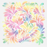 Floral and ornamental drops background Stock Image