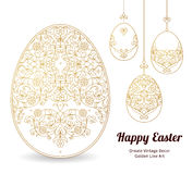 Floral ornamental egg. Happy Easter. Stock Photo