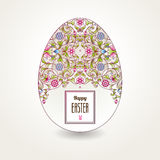 Floral ornamental egg. Happy Easter. Royalty Free Stock Photography