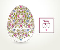 Floral ornamental egg. Happy Easter. Stock Photography