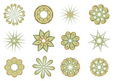 Floral and ornamental elements Stock Photos