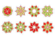Floral and ornamental elements. Vector illustration set of abstract floral and ornamental elements Royalty Free Stock Photos