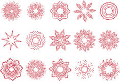 Floral and ornamental elements Royalty Free Stock Photography