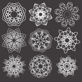 Floral and ornamental elements Royalty Free Stock Photos
