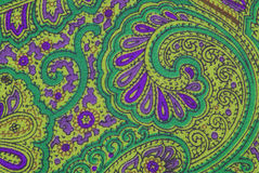 Floral ornamental fabric texture Royalty Free Stock Photos