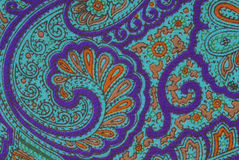 Floral ornamental fabric texture Stock Image