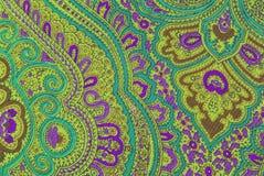 Floral ornamental fabric texture Stock Photos