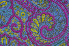 Floral ornamental fabric texture Stock Images