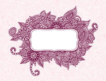 Floral ornamental frame Royalty Free Stock Photos