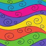 Hand drawn waves pattern Royalty Free Stock Images