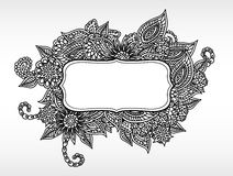 Floral ornamental frame Stock Photography
