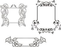 Floral ornamental frame decorations Royalty Free Stock Images
