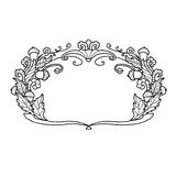 Floral ornamental frame hand drawn Stock Images