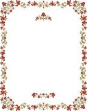 Floral Ornamental Frame in Vintage Style. Vintage frame with floral ornaments Royalty Free Stock Images