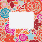 Floral ornamental greeting card Royalty Free Stock Images