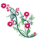 Floral ornamental illustration Royalty Free Stock Photo