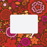Floral ornamental message card Royalty Free Stock Photography