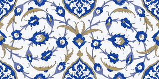 Floral Ornamental pattern. Traditional Arabic seamless ornament. Traditional Arabic  ornament seamless. Floral Ornamental pattern. Iznik .Vector.  Background Royalty Free Stock Photo
