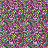 Floral ornamental seamless pattern Royalty Free Stock Images