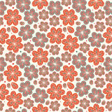 Floral ornamental seamless pattern  Decorative nice flowers background  Endless ornate texture Royalty Free Stock Photography