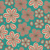 Floral ornamental seamless pattern  Decorative nice flowers background  Endless ornate texture Stock Photos