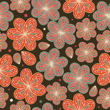 Floral ornamental seamless pattern  Decorative nice flowers background  Endless ornate texture Royalty Free Stock Photo