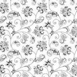 Floral ornamental seamless pattern. Flourish  arabic background. Floral pattern. Flourish oriental ethnic background. Arabic ornament with fantastic flowers and Royalty Free Stock Image