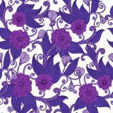 Floral ornamental seamless pattern. Stock Image