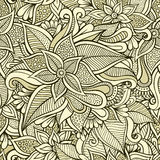Floral ornamental seamless pattern Stock Photo