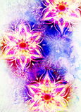 Floral ornamental structure with filigrane pattern mandala on abstract background. Royalty Free Stock Image