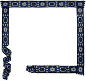 Floral ornamental textile frame. Original frame composed of seamless pieces of ornamental textile band royalty free stock images