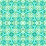 Floral ornamented pattern. Seamless vector pattern with decorative shapes in bright blue and green colors. Texture for web and print, spring fashion fabric or Royalty Free Stock Images