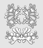 Floral ornaments. Floral vintage ornaments. Decorative elements Royalty Free Stock Photo
