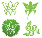 Floral ornaments. Orient buddhism style, element for design, vector illustration Royalty Free Stock Image