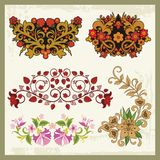 Floral Ornaments in Eastern Style Stock Photo