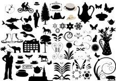 Floral ornaments - elements for design. Floral ornament background- - lots of elements for design vector illustration